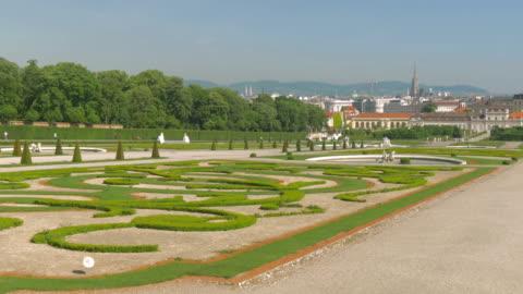 vidéos et rushes de belvedere palace.gardens. - palais du belvédère vienne