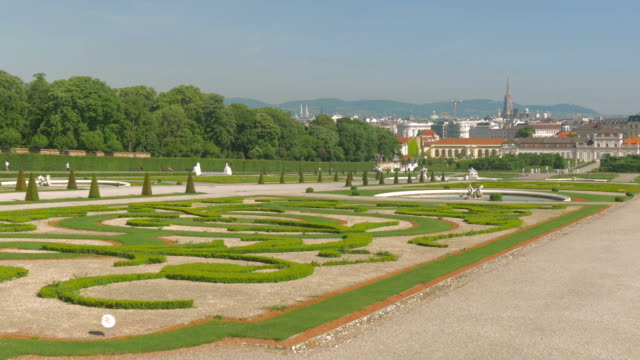 belvedere palace.gardens. - belvedere palace vienna stock videos & royalty-free footage