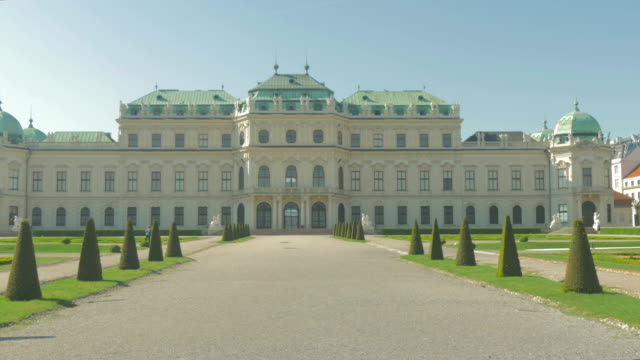 belvedere palace.wide shot - belvedere palace vienna stock videos & royalty-free footage