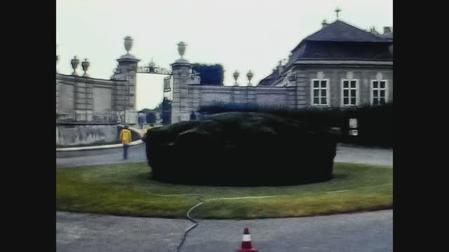 belvedere schlossgarten in vienna in 70's - belvedere palace vienna stock videos & royalty-free footage