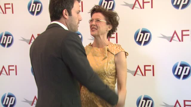 ben affleck and annette bening at the 2010 afi awards at los angeles ca. - annette bening stock videos & royalty-free footage