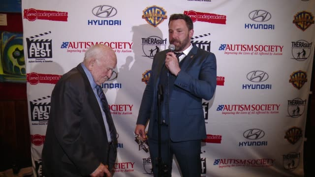 SPEECH Ben Affleck and Ed Asner on the honor it is to have his support within the Autism Society community and the tremendous impact he's made in...