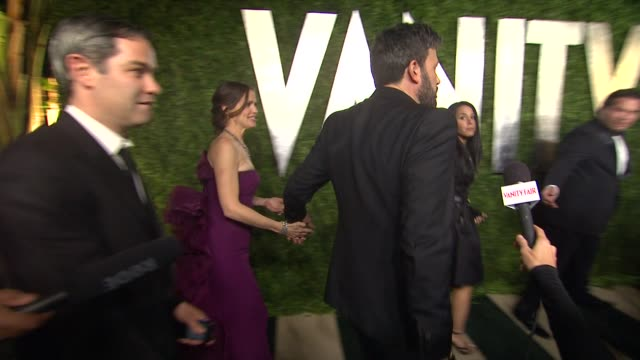 ben affleck and jennifer garner at the 2013 vanity fair oscar party hosted by graydon carter ben affleck and jennifer garner at the 2013 vanity at... - ben affleck stock videos and b-roll footage
