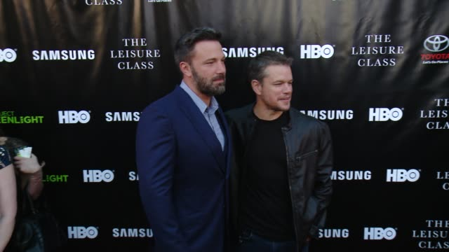 ben affleck and matt damon at matt damon ben affleck adaptive studios and hbo present the project greenlight season 4 winning film the leisure class... - matt damon stock videos and b-roll footage