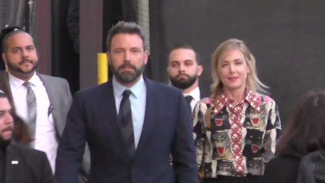 ben affleck arrives at jimmy kimmel live in hollywood in celebrity sightings in los angeles - ben affleck stock videos & royalty-free footage