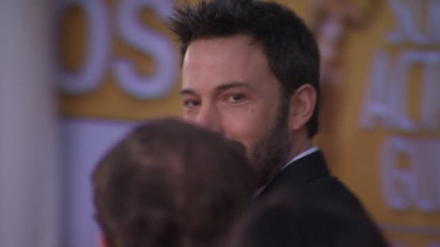 ben affleck at 19th annual screen actors guild awards arrivals on 1/27/13 in los angeles ca - ben affleck stock videos and b-roll footage