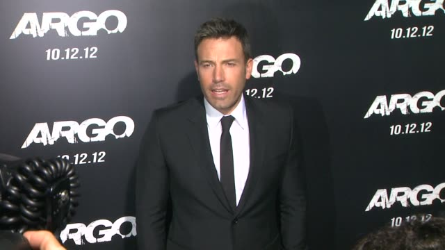 ben affleck at argo los angeles premiere on 104/12 in los angeles ca - ben affleck stock videos & royalty-free footage