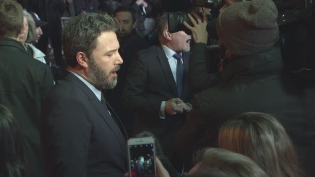 ben affleck at 'live by night' european film premiere on january 10 2017 in london england - ben affleck stock videos and b-roll footage