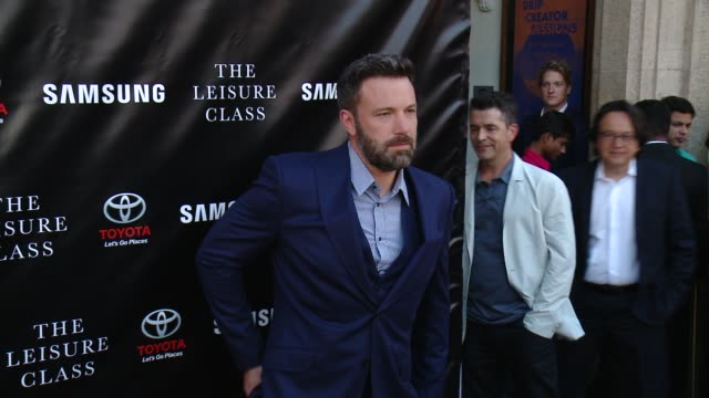 ben affleck at matt damon ben affleck adaptive studios and hbo present the project greenlight season 4 winning film the leisure class at the theatre... - ben affleck stock videos & royalty-free footage