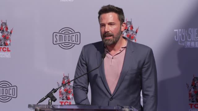 speech ben affleck at tcl chinese theatre on october 14 2019 in hollywood california - ben affleck stock videos & royalty-free footage