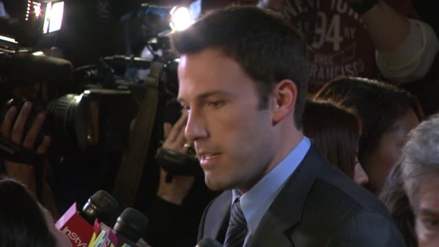 ben affleck at the 2007 national board of review of motion pictures awards gala at cipriani 42nd street in new york new york on january 15 2008 - ben affleck stock videos and b-roll footage