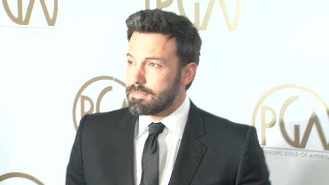 ben affleck at the 24th annual producers guild of america awards on 1/26/13 in beverly hills ca - ben affleck stock videos & royalty-free footage