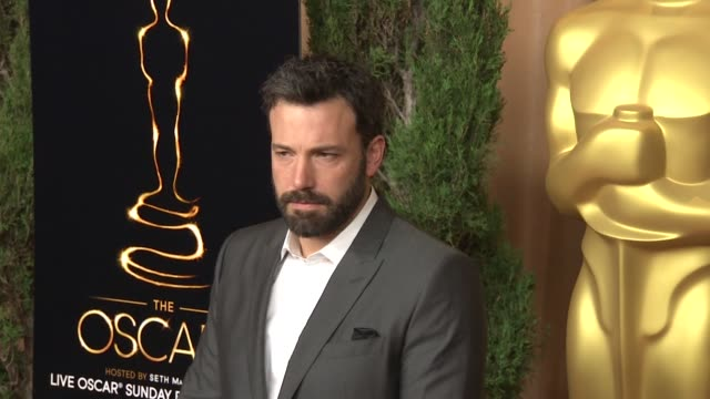ben affleck at the 85th academy awards nominations luncheon in beverly hills ca on 2/4/13 - ben affleck stock videos & royalty-free footage