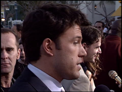 Ben Affleck at the 'Daredevil' Premiere on February 9 2003