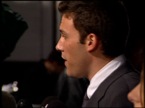ben affleck at the 'forces of nature' premiere at the mann village theatre in westwood california on march 12 1999 - ben affleck stock videos & royalty-free footage