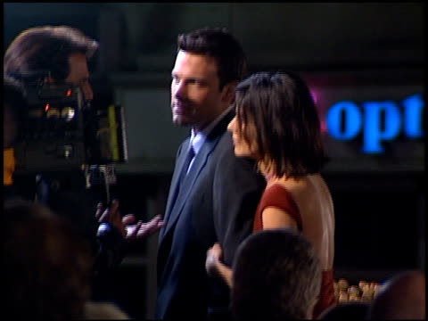 ben affleck at the 'forces of nature' premiere at the mann village theatre in westwood california on march 12 1999 - westwood neighborhood los angeles stock videos & royalty-free footage