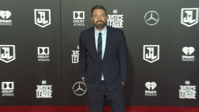 ben affleck at the justice league world premiere at dolby theatre on november 13 2017 in hollywood california - ben affleck stock videos & royalty-free footage