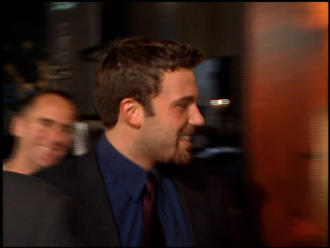 ben affleck at the premiere of 'the talented mr ripley' at the mann village theatre in westwood california on december 12 1999 - ben affleck stock videos and b-roll footage
