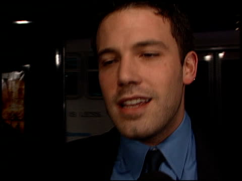 ben affleck at the 'reindeer games' premiere at the el capitan theatre in hollywood, california on february 21, 2000. - el capitan theatre stock videos & royalty-free footage