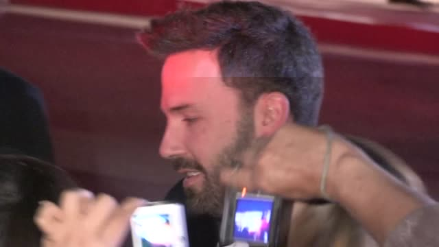 ben affleck greets fans at the 24th annual film festival in palm springs 01/05/13 - ben affleck stock videos and b-roll footage