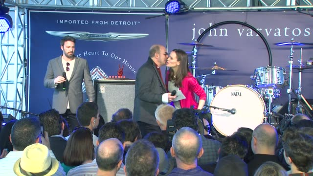 speech ben affleck jennifer garner at the john varvatos 10th annual stuart house benefit on 3/10/13 in los angeles ca - ben affleck stock videos & royalty-free footage