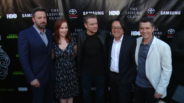 Ben Affleck Matt Damon and Marc Joubert at Matt Damon Ben Affleck Adaptive Studios And HBO Present The Project Greenlight Season 4 Winning Film The...