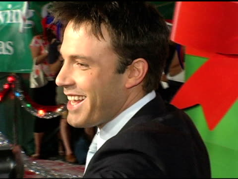 ben affleck models a boston red sox cap at the 'surviving christmas' los angeles premiere at grauman's chinese theatre in hollywood california on... - ben affleck stock videos and b-roll footage