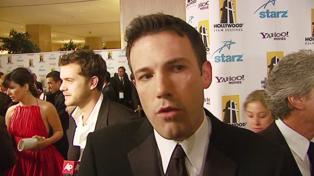 ben affleck on the film that impacted his life and why at the hollywood film festival 10th annual hollywood awards at the beverly hilton in beverly... - ben affleck stock videos and b-roll footage