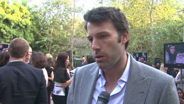 ben affleck on what he appreciates about children mending hearts and why he wanted to be a part of the night the importance of art and creative... - ben affleck stock videos and b-roll footage