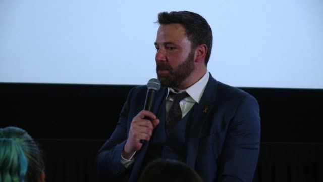 interview ben affleck on what it meant to take on this role as a highly functioning autistic character in the accountant on how he hopes to see more... - ben affleck stock videos & royalty-free footage