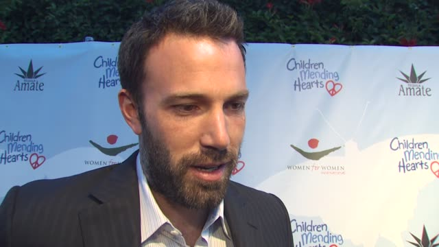 ben affleck on what the evening represents for children mending hearts why he's passionate about the cause at what point in his life he realized he... - ben affleck stock videos & royalty-free footage