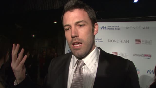 ben affleck on why he got involved with the humanitarian crisis in the democratic republic of the congo what people would be surprised to learn what... - ben affleck stock videos & royalty-free footage