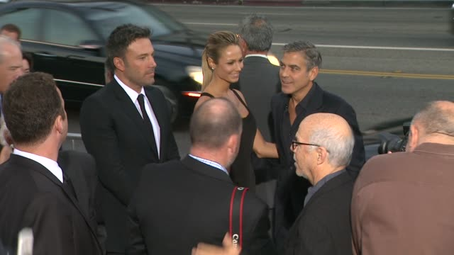 Ben Affleck Stacy Keibler George Clooney at Argo Los Angeles Premiere on 104/12 in Los Angeles CA