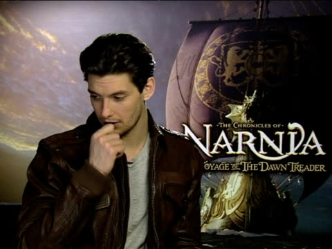 ben barnes on the future of the narnia stories and his future with the franchise at the the chronicles of narnia: voyage of the dawn treader... - franchising stock videos & royalty-free footage