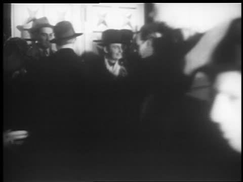 ben bernie being interviewed at microphone at jumbo opening / hippodrome theater - 1935年点の映像素材/bロール