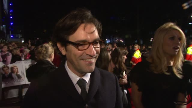 ben chaplin on what drew him to the role on working with richard linklater on working with claire danes before at the me orson welles uk premiere at... - claire danes stock videos and b-roll footage