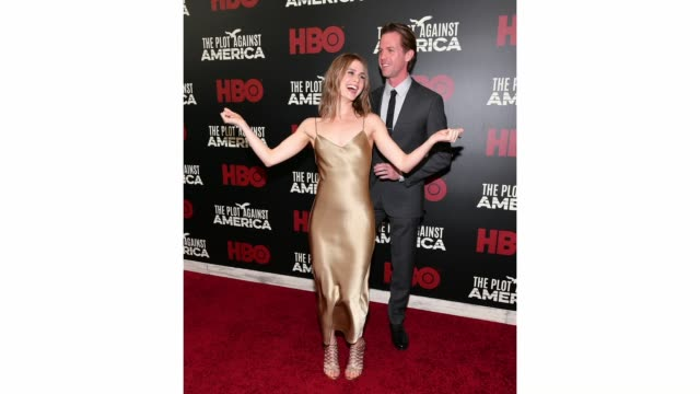 ben cole and caroline kaplan attend hbo's the plot against america premiere at florence gould hall on march 04 2020 in new york city - gif stock videos & royalty-free footage