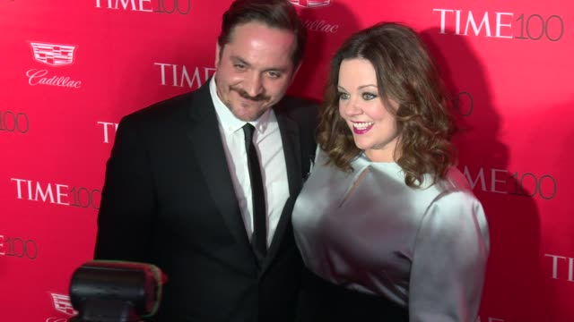 ben falcone and melissa mccarthy at 2016 time 100 gala, time's most influential people in the world - red carpet at jazz at lincoln center on april... - ben falcone stock videos & royalty-free footage