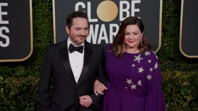 ben falcone and melissa mccarthy at the 76th annual golden globe awards - arrivals- 4k footage at the beverly hilton hotel on january 06, 2019 in... - ben falcone stock videos & royalty-free footage