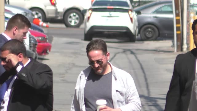 ben falcone arrives at jimmy kimmel live at el capitan theater in hollywood in celebrity sightings in los angeles, - ben falcone stock videos & royalty-free footage