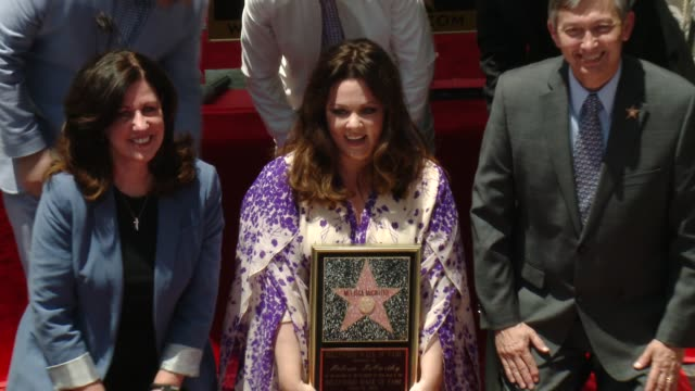 ben falcone, ellen degeneres & melissa mccarthy at melissa mccarthy honored with star on the hollywood walk of fame on may 19, 2015 in hollywood,... - ben falcone stock videos & royalty-free footage