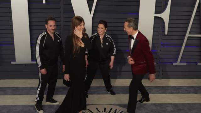 ben falcone, melissa mccarthy and richard e. grant at 2019 vanity fair oscar party hosted by radhika jones at wallis annenberg center for the... - richard e. grant stock videos & royalty-free footage