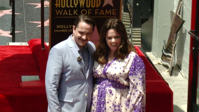 ben falcone & melissa mccarthy at melissa mccarthy honored with star on the hollywood walk of fame on may 19, 2015 in hollywood, california. - ben falcone stock videos & royalty-free footage