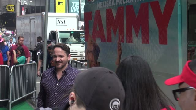 ben falcone outside of the good morning america show - celebrity sightings in new york on june 26, 2014 in new york city. - ben falcone stock videos & royalty-free footage