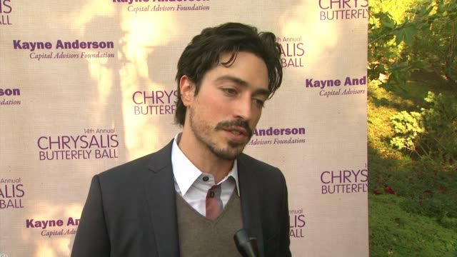 interview ben feldman on being a part of the night what he appreciates about chrysalis at 14th annual chrysalis butterfly ball in los angeles ca - chrysalis butterfly ball video stock e b–roll