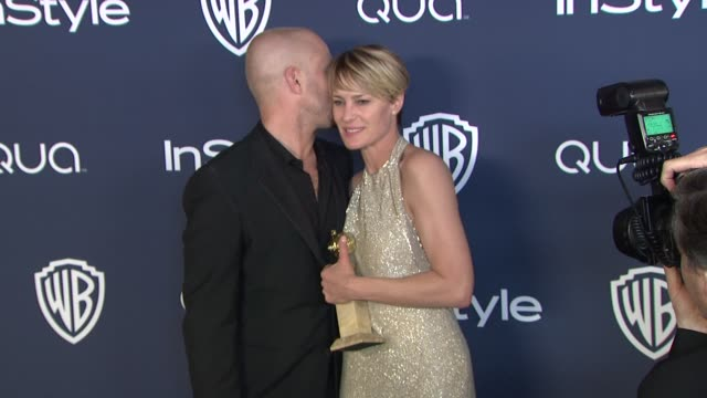 ben foster and robin wright at 2014 instyle and warner bros 71st annual golden globe awards postparty at the beverly hilton hotel on in beverly hills... - robin wright stock videos & royalty-free footage