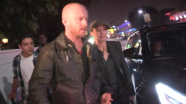 ben foster and robin wright greet fans while departing the w magazine party at chateau marmont at celebrity sightings los angeles on in los angeles... - robin wright stock videos & royalty-free footage