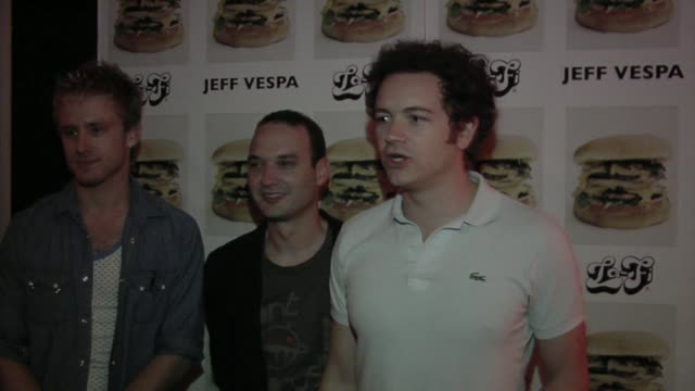 Ben Foster Jeff Vespa and Danny Masterson at the Jeff Vespa's Eat Me Art Show Opening at the LoFi Gallery in Los Angeles California on May 4 2006