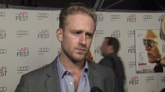 ben foster on his role as producer on his collaboration with woody harrelson and oren moverman on rampart at the 2011 afi fest millennium... - oren moverman stock videos and b-roll footage