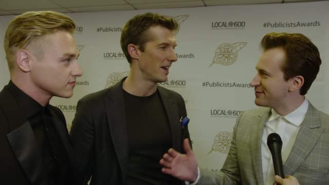 INTERVIEW Ben Hardy Joseph Mazzello and Gwilym Lee at 56th Annual ICG Publicists Awards 2019 at The Beverly Hilton Hotel on February 22 2019 in...